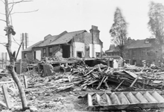 Loss of vast housing stocks in WW2